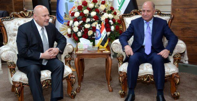 وزير العدل يستقبل ممثل الامم المتحدة لبحث الجهود الدولية لمكافحة الارهاب