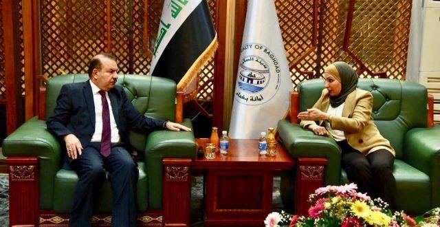 وزير الداخلية يزور امانة بغداد
