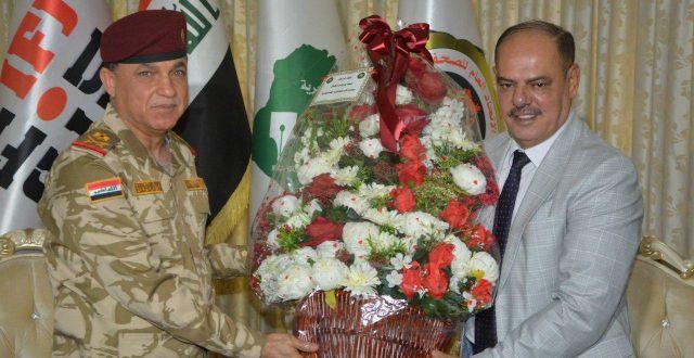 مدير الاستخبارات العسكرية يهنئ اللامي بمناسبة فوزه بعضوية المكتب التنفيذي للاتحاد الدولي للصحفيين