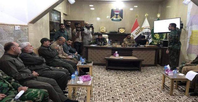 """المهندس يجتمع بقيادة عمليات نينوى للاطلاع على سير عملية """"إرادة النصر"""""""