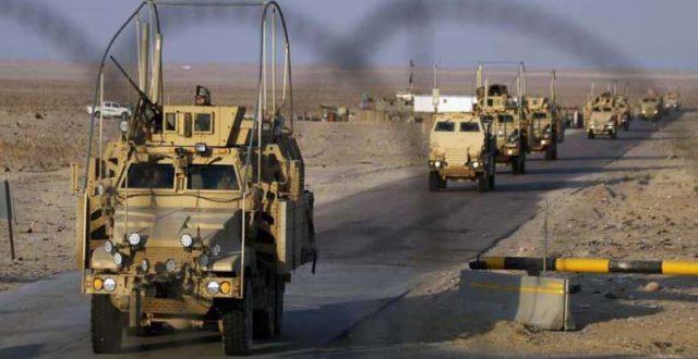 انسحاب قوة امريكية باسناد جوي من قضاء الرطبة باتجاه قاعدة عين الاسد