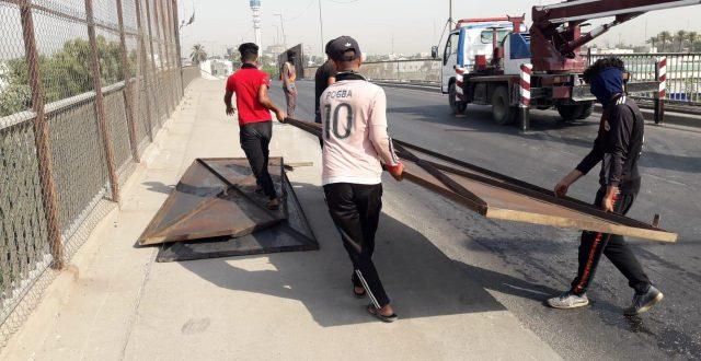رفع السياج الأمني عن مجسر مجمع الوزراء