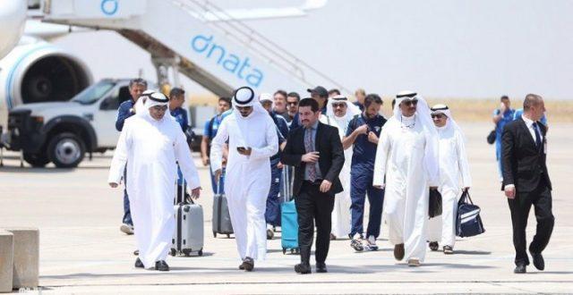 الوفد الكويتي ثاني الواصلين لمطار اربيل قبل المشاركة ببطولة غرب آسيا