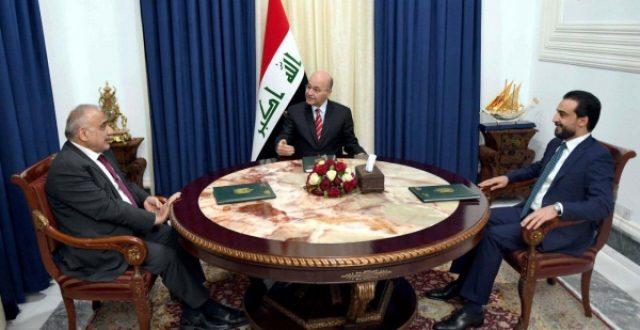الرئاسات الثلاث تشدد على أهمية التزام التحالف بحفظ الأجواء العراقية وتؤكد: الحشد جزء من منظومة الدفاع