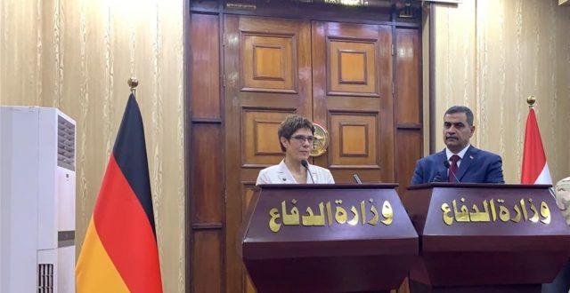 وزيرة الدفاع الألمانية من بغداد تؤكد: سندعم الجيش العراقي بكل قوة