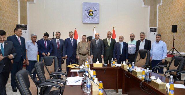 اجتماع مشترك بين هيأة المنافذ الحدودية ووزارتي الداخلية والتجارة