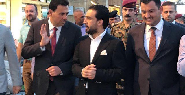بالصور: رئيس مجلس النواب محمد الحلبوسي يتجول في منطقة الدورة