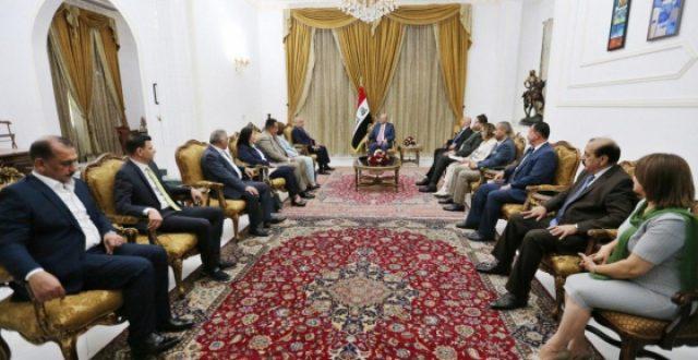 صالح يدعو رئيس تجمع القوى المدنية الى العمل السياسي المثمر
