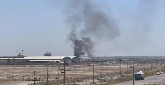 بالصور .. انفجار في معمل غاز الناصرية