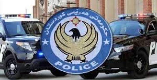 شرطة اربيل تعلن اصابة احد منتسبيها بطلق ناري بمطاردة امنية