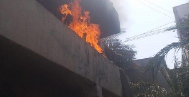 حريق في مركز البصرة