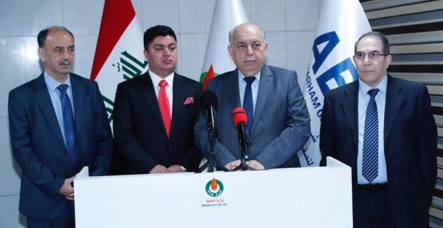 نائب رئيس الوزراء لشؤون الطاقة وزير النفط يرعى حفل توقيع مشروع الهدرجة وتحسين البنزين في كركوك