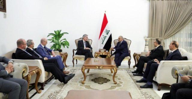 عادل عبدالمهدي يستقبل رؤساء شركات سيمنس الالمانية واكوا باور السعودية وجي اي الامريكية