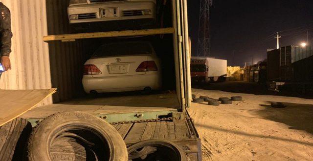المنافذ الحدودية: إحباط محاولة تهريب (20) عجلة دون الموديل في منفذ ميناء أم قصر