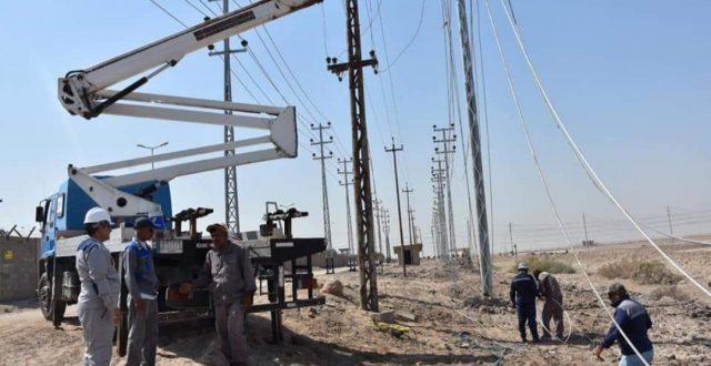 شركة توزيع كهرباء الجنوب ( ١٥٩) مشروع نُفذ في البصرة ضمن خطتها للعام الحالي