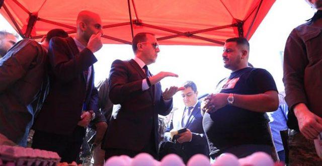 """وزارة الزراعة """"تستهجن"""" زيارة السفير التركي لمراكز بيع البيض في علوة جميلة مشددة إنها لن تفتح الاستيراد"""