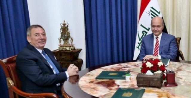 رئيس الجمهورية يبحث مع السفير الأردني تطوير العلاقات بين البلدين