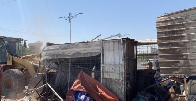 حملة جديدة لازالة التجاوزات عن ساحة 55 شرقي بغداد