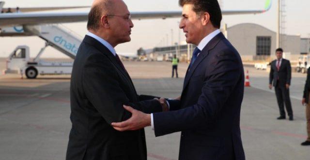 الديمقراطي يكشف هدف زيارة رئيس الجمهورية الى أربيل