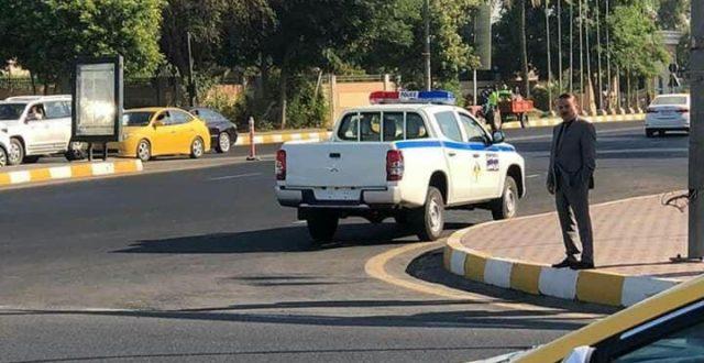 بالصور .. وزير الداخلية في جولة صباحية وسط بغداد بدوم حماية
