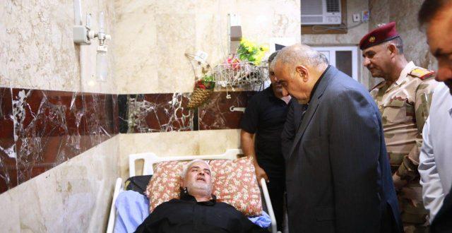 رئيس الوزراء عادل عبدالمهدي يتفقد المصابين بحادث التدافع في مستشفى الحسين بمحافظة كربلاء