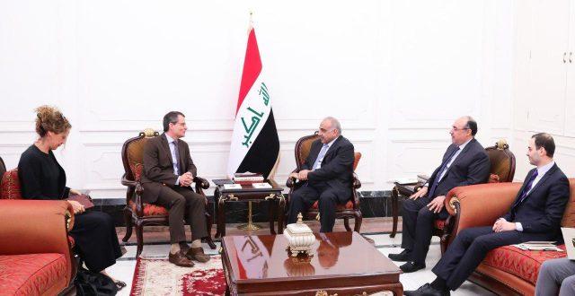عبدالمهدي يستقبل سفیر بعثة الاتحاد الاوربي في العراق