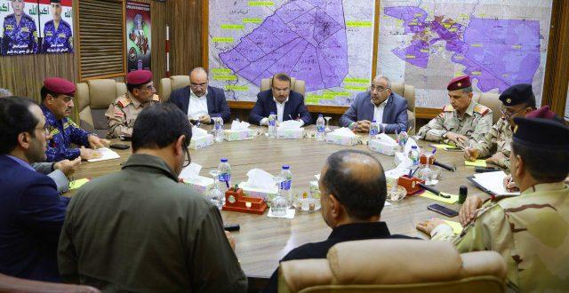 عبدالمهدي يرأس اجتماعا للقادة الأمنيين في مقر قيادة الشرطة الإتحادية