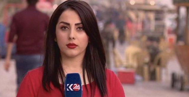 مراسلة قناة كردستان 24 تتعرض لهجوم لفظي اثناء تغطية تظاهرة في السليمانية