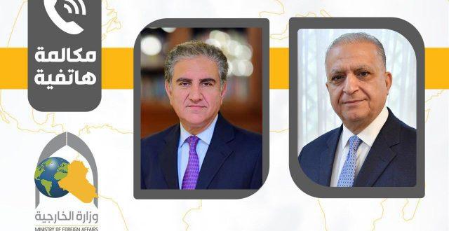وزير الخارجية يتلقى اتصالاً هاتفياً من سيد محمود قريشي وزير الخارجية الباكستاني