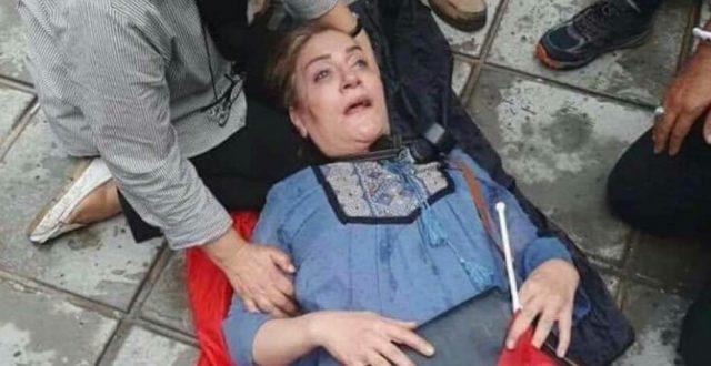 بالصورة.. إصابة الفنانة اسيا كمال في تظاهرات بغداد