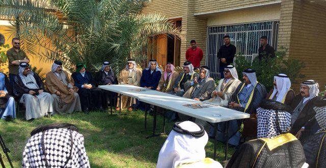 إجتماع عدد من شيوخ العشائر اليوم في بغداد لإعلان موقفهم الرسمي مع التظاهرات وليس مع حكومة قمع المتظاهرين السلميين