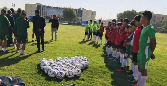 منتخب أشبال العراق يعاود تدريباته بعد التوقف القسري بسبب أوضاع البلاد