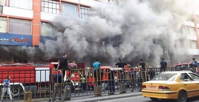 الدفاع المدني :اخماد حريق اندلع في مخزن لمواد التجميل في منطقة الشورجة