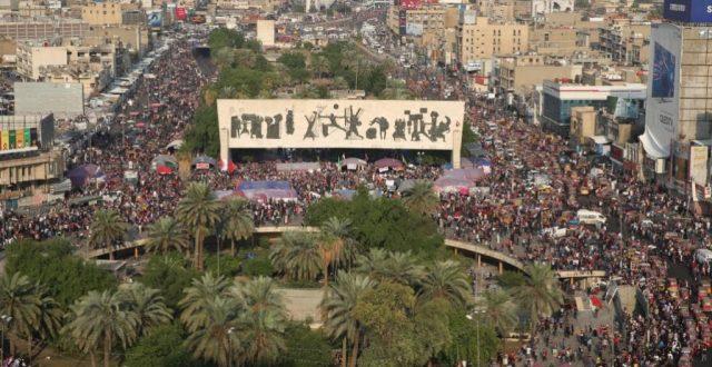 الموقف الأمني في ساحة التحرير وجسري السنك والأحرار