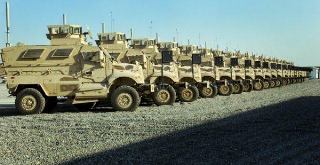 بالصور.. توجه مئات العجلات والمدرعات العسكرية الى بغداد