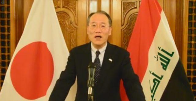 بالصورة السفير الياباني يشجع المنتج العراقي بطريقته