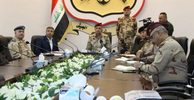 اجتماع أمني رفيع في الدفاع بشأن الوضع الامني على الحدود مع تركيا وسوريا