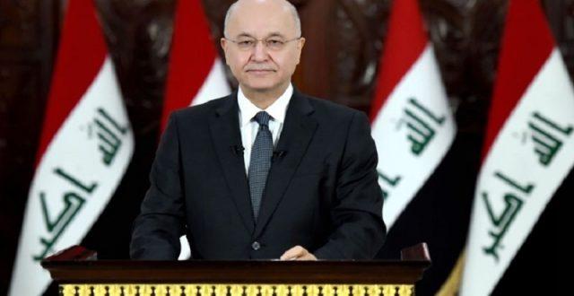 صالح: الهجوم على مقرات الحشد يعد انتهاكاً لسيادة العراق