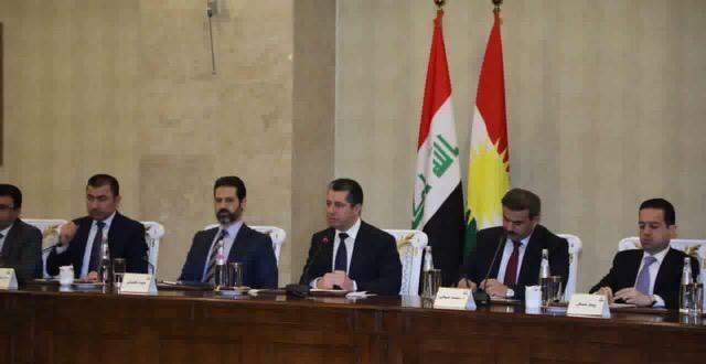 رئيس حكومة إقليم كوردستان يجتمع بكبار المستثمرين في الإقليم