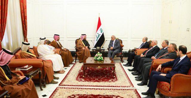 عبدالمهدي يستقبل نائب رئيس الوزراء وزير الخارجية القطري محمد بن عبد الرحمن آل ثاني