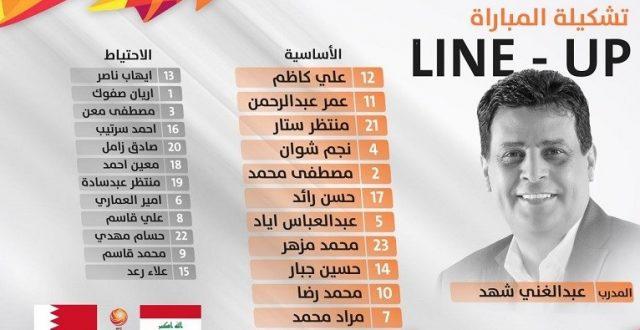 تعرف على التشكيلة الرسمية للأولمبي العراقي في لقاء البحرين اليوم بالآسيوية