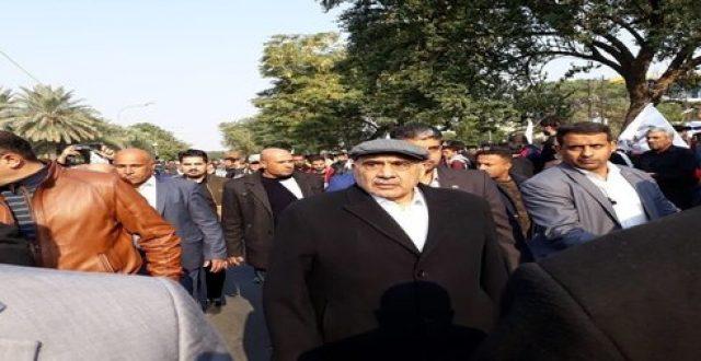 عبد المهدي يحضر مراسيم تشييع شهداء الحشد الشعبي