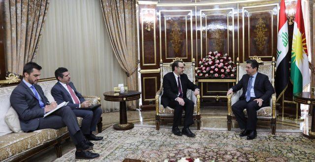 رئيس حكومة إقليم كوردستان يستقبل مساعد وزير الخارجية الأمريكي