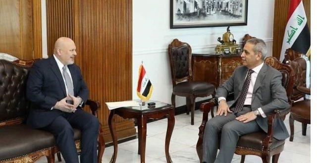 رئيس مجلس القضاء يبحث مع المستشار الخاص لأمين عام الأمم المتحدة جمع الادلة الخاصة بجرائم عصابات داعش