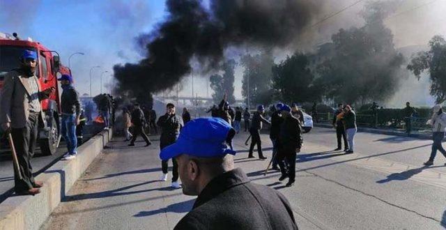 19 مصابا جراء اعتداء القبعات الزرق على الثوار في بابل