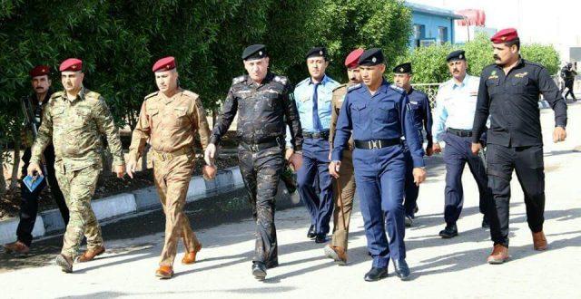 قائد شرطة النجف يوجه أفواج الطوارئ والنجدة بالإشراف على تأمين ساحة الصدرين