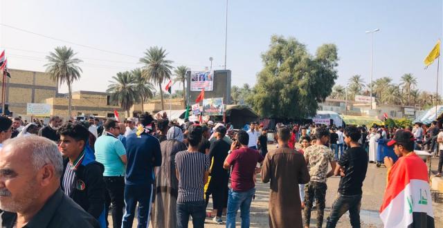 """شرطة الديوانية تنفي وجود حملة اعتقالات بحق المعتصمين في """"ساحة الساعة"""""""