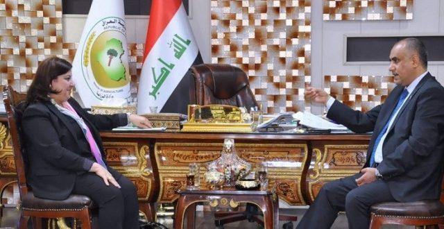 وزير الزراعة للوفد الكردي: لن نحرم الإقليم من احتياجاته وعليكم منع الاستيراد غير القانوني