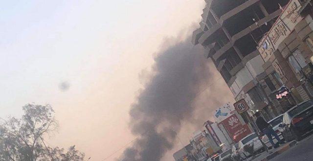 بالصور..حرق خيم المعتصمين في النجف