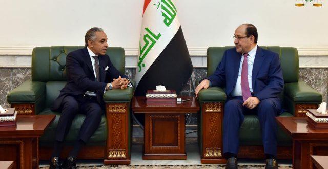 رئيس ائتلاف دولة القانون السيد نوري المالكي يستقبل سفير جمهورية مصر العربية لدى العراق